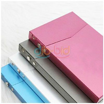Steel Case Metal Box Holder Credit ID Pocket Business Card Cigarette Name SSUS