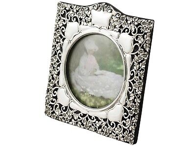 Antique Edwardian Sterling Silver Photograph Frame by Synyer & Beddoes 1901