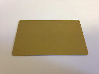 50 x CR80 .30 Mil Graphic Quality Gold  PVC Credit Card ID PRINTER Sealed