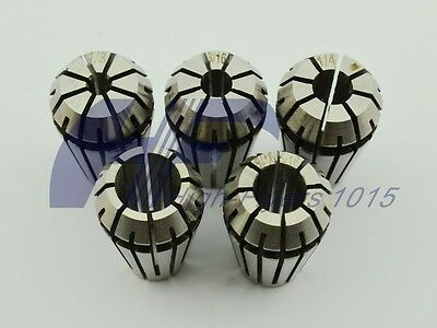 "ER16 5 PCS Spring Collet Set 1/8 - 3/8"" for CNC milling Lathe with 3/16 1/4 5/16"