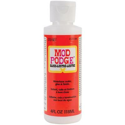 4oz MOD PODGE GLOSS FINISH GLUE SEALER FOR DECOUPAGE MODELLING CRAFT NON TOXIC