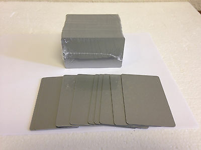 100 x CR80 .30 Mil Graphic Quality Silver PVC Credit Card ID PRINTER Sealed