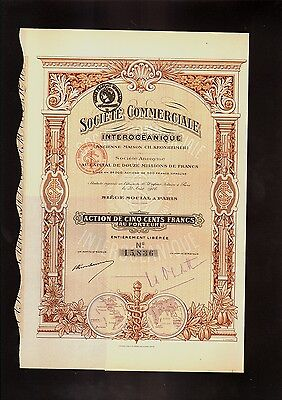FRANCE Soc. Commerciale Interoceanique Ch Kronheimer Paris 1916