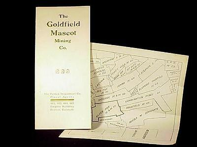 Goldfield, Nevada - Mascot Mining Co. Booklet & Map