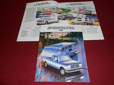 1989 FORD RV & TRAILER TOWING GUIDE: PICKUP TRUCK, SUV, VAN 16-Page BROCHURE