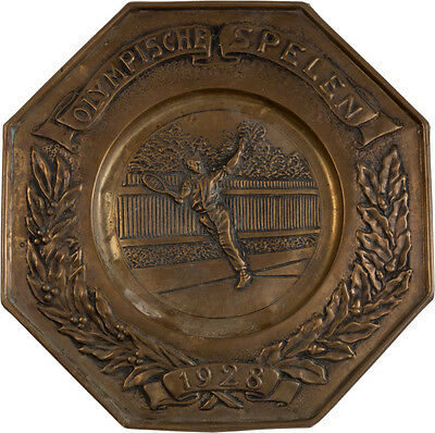 1928 Amsterdam Summer Olympics Tennis Tin, Extremely Rare Piece!