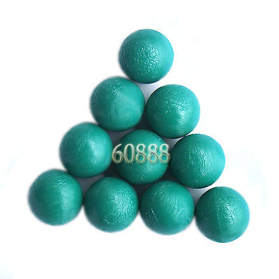 New .68 cal Reusable resilient soft Rubber Training Balls Paintballs  Green