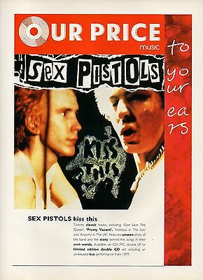 Sex pistols-1992 magazine advert