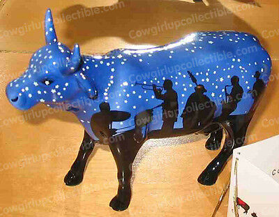 9185 - JAZZY COW (CowParade) Kansas City, 2001 (Retired) Ceramic
