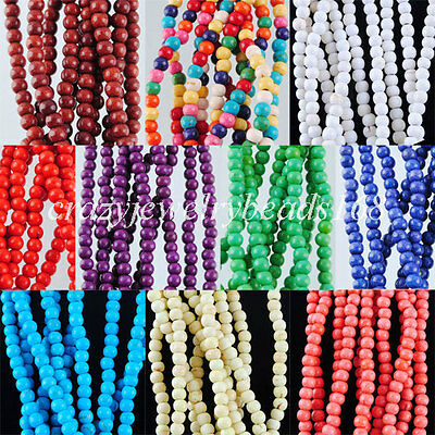 """Howlite Turquoise Gem 3mm(Approx 150PCS) Round Spacer Beads 15 1/2 """" BG136"""