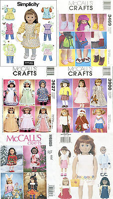 """18"""" Doll Clothes Sewing Patterns ~ Uncut ~ Free US Shipping"""