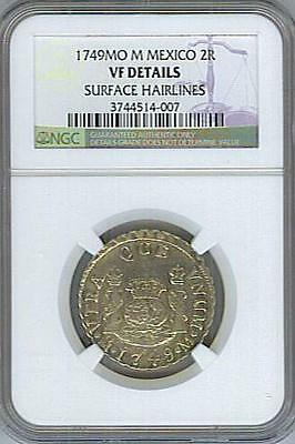 *scarce* 1749-Mo M Mexico 2 Reales - Ngc Certified!