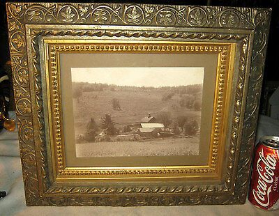 Antique Primitive Country Farm Art Fancy Wood Leaf Picture Wall Home Photo Frame