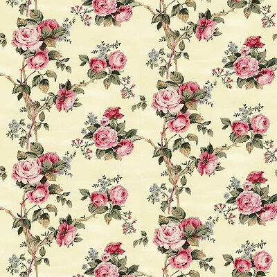 Dolls House Wallpaper 1/12th 1/24th scale Cream Floral Quality Paper #59
