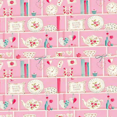 Dolls House Wallpaper 1/12th 1/24th scale Pink Kitchen Quality Paper #209
