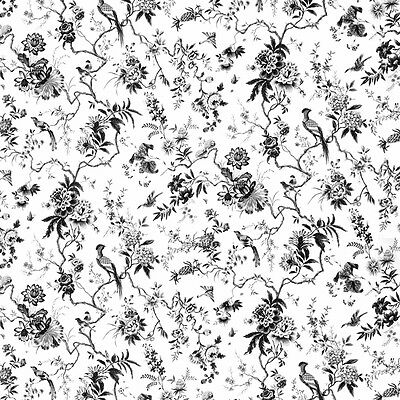 Dolls House Wallpaper 1/12th 1/24th scale Black & White Quality Paper #202