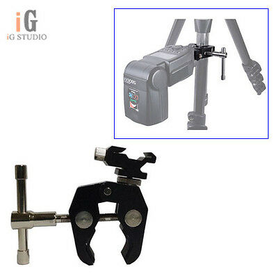 """Crab Claw Clamp Tongs Pliers+1/4-3/8"""" Screw+Camera Flash Hot Shoe Mount Adapter"""