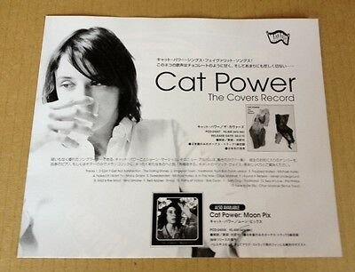 2000 Cat Power The Covers Record JAPAN photo promo ad / clipping cutting