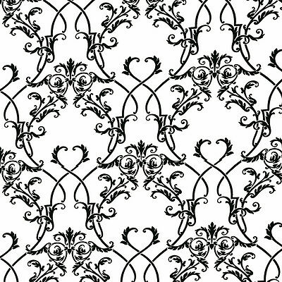 Dolls House Wallpaper 1/12th 1/24th scale Black & White Quality Paper #66