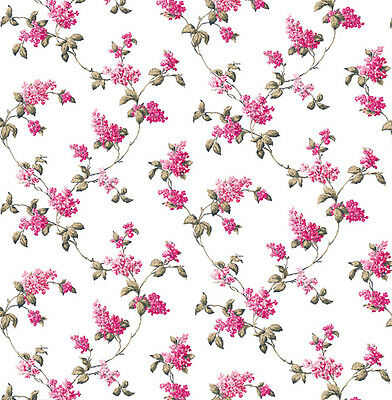 Dolls House Wallpaper 1/12th 1/24th scale Pink Quality Paper #71