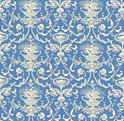 Dolls House Wallpaper 1/12th 1/24th scale Blue Quality Paper #196