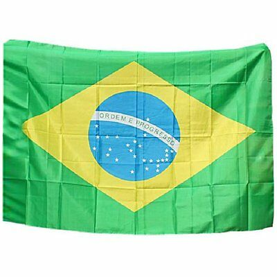 1x 120412 Hot Large Brazil National Flag Sports Brazilian Banner Country Flags C
