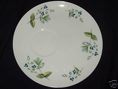 ROSINA QUEENS WAYSIDE SNACK PLATE ONLY (NO CUP) Blue Flowers