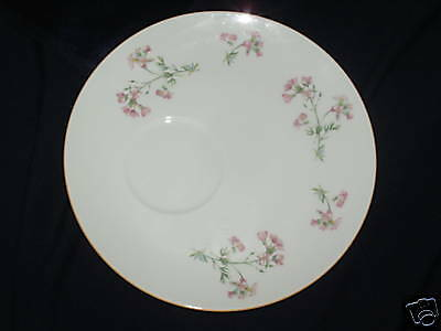 ROSINA QUEENS WAYSIDE SNACK PLATE ONLY (NO CUP) Pink Flowers