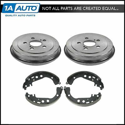 Nakamoto Rear Brake Drums & Shoes Left & Right Kit for 00-05 Toyota Celica 5 Lug