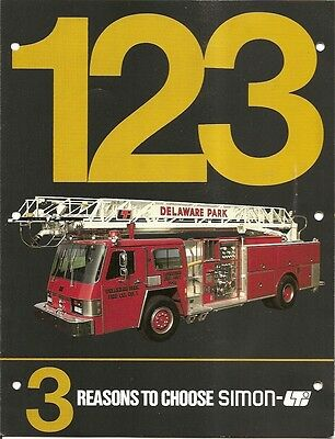 Fire Equipment Brochure - Simon-LTI - Aerial Ladder (DB11)