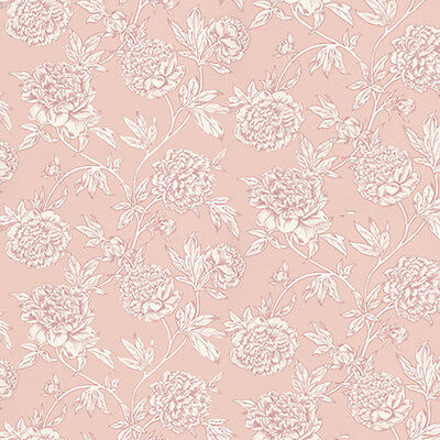 Dolls House Wallpaper 1/12th 1/24th scale Pink  Quality Paper #17