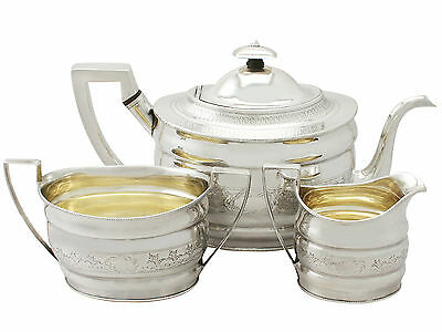 Sterling Silver Three Piece Tea Set - Antique George III