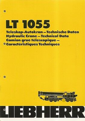 Equipment Brochure - Liebherr - LT 1055 - Hydraulic Truck Crane - 1979 (E1356)