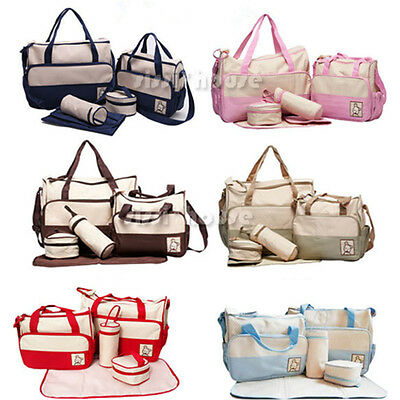 5pcs Baby Changing Diaper Nappy Mother Handbag Multifunctional set AU NEW OZ