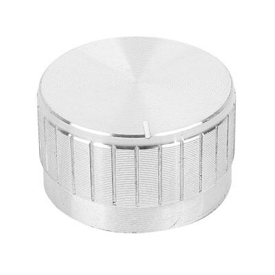 Silver Tone 29mm Dia Top Rotary Knobs for 5mm Dia Shaft Potentiometer