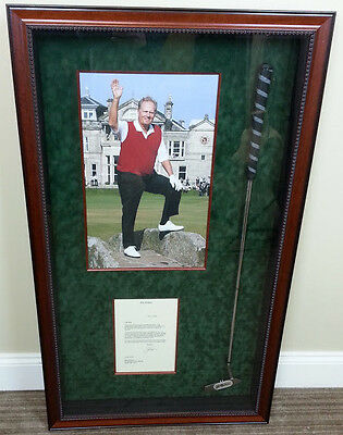 Jack Nicklaus Signed Autographed Putter Shadowbox 2006 British Open!