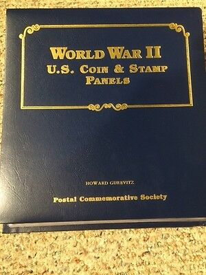 World War II U.S. Coins and Stamp Panels - 4 Pages with Silver Coins!