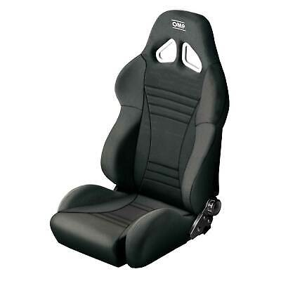 OMP Strada Reclining Fabric Sports Bucket Seat Black High Strength Steel Frame