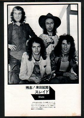 1973 Slade vintage JAPAN mag photo pinup / mini poster / clipping cutting