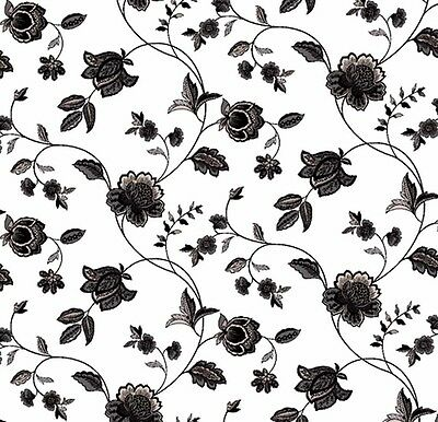 Dolls House Wallpaper 1/12th 1/24th scale Black & White Quality Paper #176