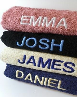 New Personalised Swimming/PE/Gym Towels - Embroidered with any name