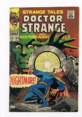 Strange Tales # 164  Nick Fury  Doctor Strange grade 3.5 scarce hot book !!