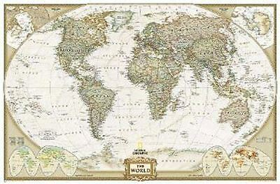 The World by National Geographic Maps (Sheet map, rolled, 2004) EBM-004
