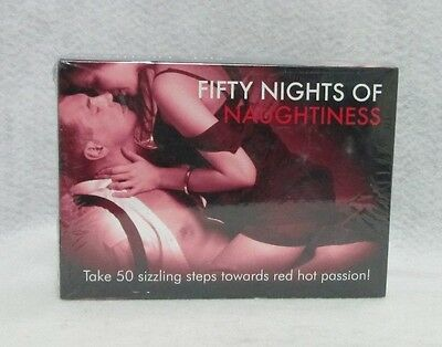 Fifty Nights Of Naughtiness Couples Card Game Steamy Hot Sexy Lovers Great Gift