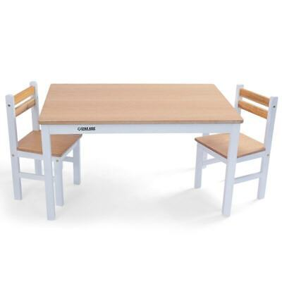 Nu Elwood Rectangle Table & 2 Chairs Set - Inverted White