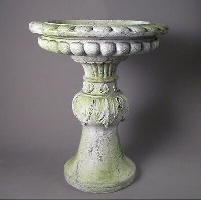 Acanthus Garden Bird Bath-Birdbath by Orlandi Made of Fiberstone FS8575