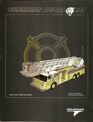 Fire Equipment Brochure - Grumman - Aerial Cat - Vails Gate NY Engine (DB63)
