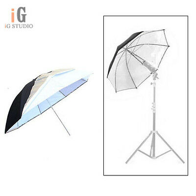"Universal 43""/110cm Removable reflective black and white Softlight umbrella"