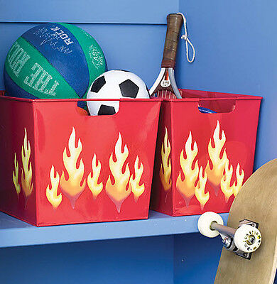 WALLIES FLAMES wall stickers 25 prepasted decals room decor hot fire sparks teen
