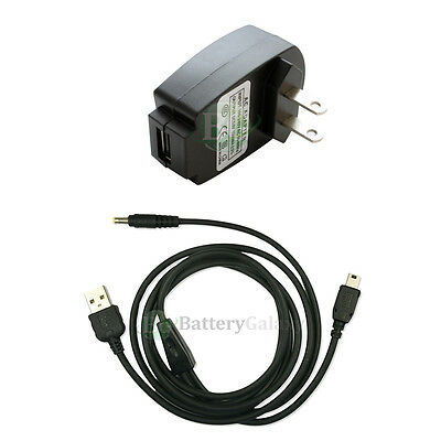 Battery Wall AC Charger+USB Cable for Pocket Sony Reader PRS-300 505 600 700 900